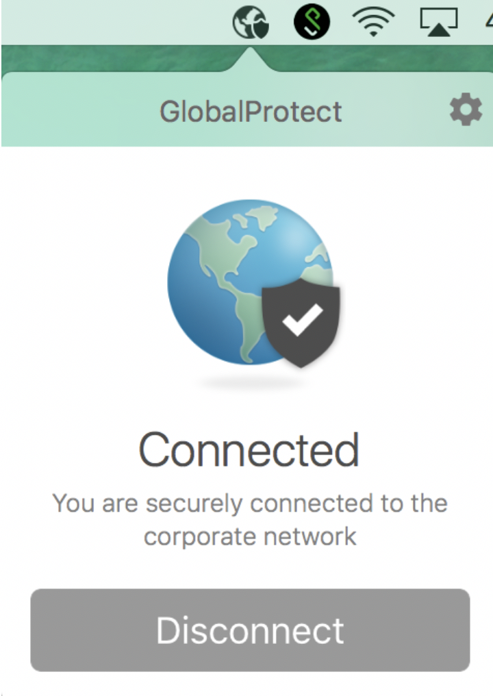 GlobalProtect connected