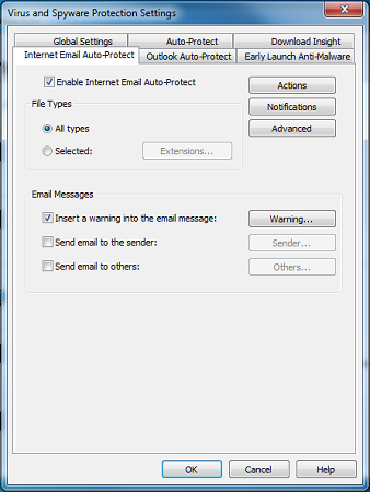 Internet and Email Settings