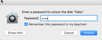 This image shows a screenshot of thepassword creation window where there is a prompt t oenter and verify a password as well as set up a password hint.