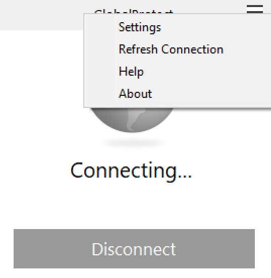 GlobalProtect Windows Connecting Settings